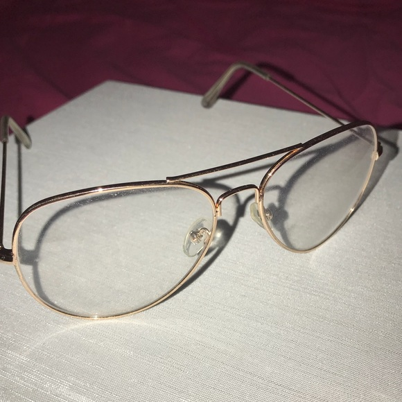 Clear Nonprescription Glasses W Gold Frame | Poshmark